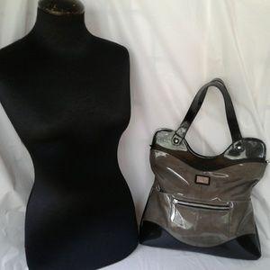 Beijo Gray & Black Shoulder Bag Purse